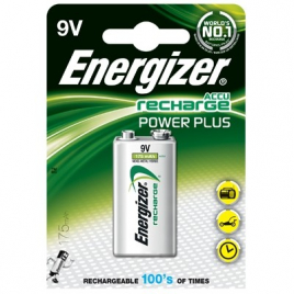 Pile rechargeable Power plus ENERGIZER - 9V HR622-175mAh
