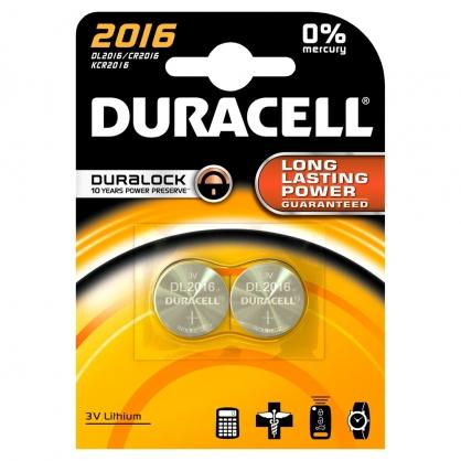 Pile boutons au lithium 2016 2 pièces DURACELL
