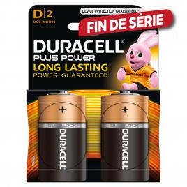 Pile alcaline D Plus Power 2 pièces DURACELL