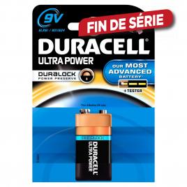 Pile alcaline 9V Ultra Power 1 pièce DURACELL