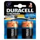 Pile alcaline D Ultra Power 2 pièces DURACELL