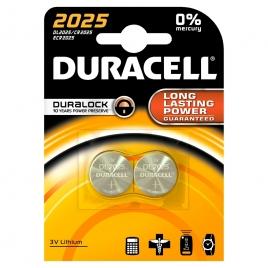 Pile bouton au lithium 2025 2 pièces DURACELL
