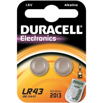 Pile alcaline LR43 2 pièces DURACELL