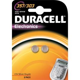 Pile bouton 357/303 2 pièces DURACELL