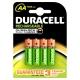Pile rechargeable Plus AA 1300mAh 4 pièces DURACELL