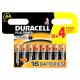 Pile alcaline AA Plus Power 12 + 4 pièces DURACELL