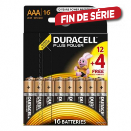 Pile alcaline AAA Plus Power 12 + 4 DURACELL
