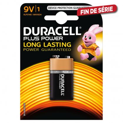 Pile alcaline Plus Power 9 V DURACELL