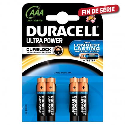 Set de piles alcalines AAA Ultra Power 4 pièces DURACELL