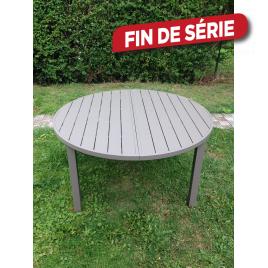 Table de jardin ronde Bretagne 145-190 x 145 cm