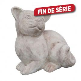 Statuette de chat en terre cuite - Assis