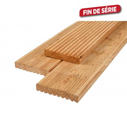 Planche en mélèze 2,6 x 14,5 x 300 cm CARTRI