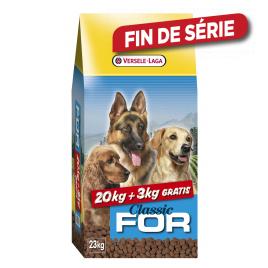 Sac de croquettes pour chien 20 + 3 kg