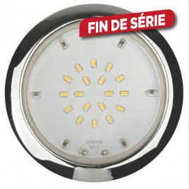 Spots Led à encastrer 12V-3x2W IP44 rond fixe LIGHT TOPPS - Chrome