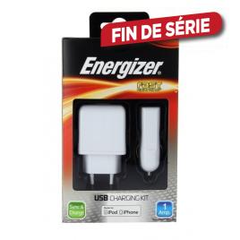 Chargeur 3en1 USB avec connecteur Apple 30 pins