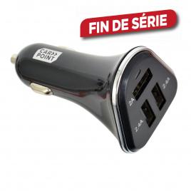 Chargeur USB pour voiture 3 prises 6,8 A CARPOINT