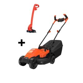 Pack tondeuse électrique 1400 W et coupe-bordure 250 W BLACK+DECKER