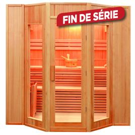 Sauna traditionnel intérieure angulaire Zen