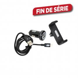 Kit de recharge pour voiture avec support