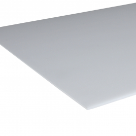 Plaque en polystyrène lisse opale 2,5 mm - 0,5 x 1 m