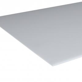 Plaque en polystyrène lisse opale 2,5 mm