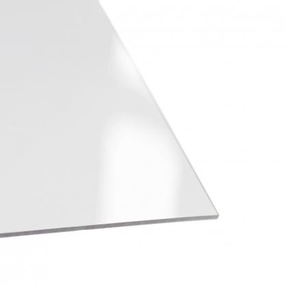 Plaque en PVC lisse cristal