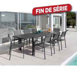 Ensemble de jardin Elise : 1 table et 8 fauteuils