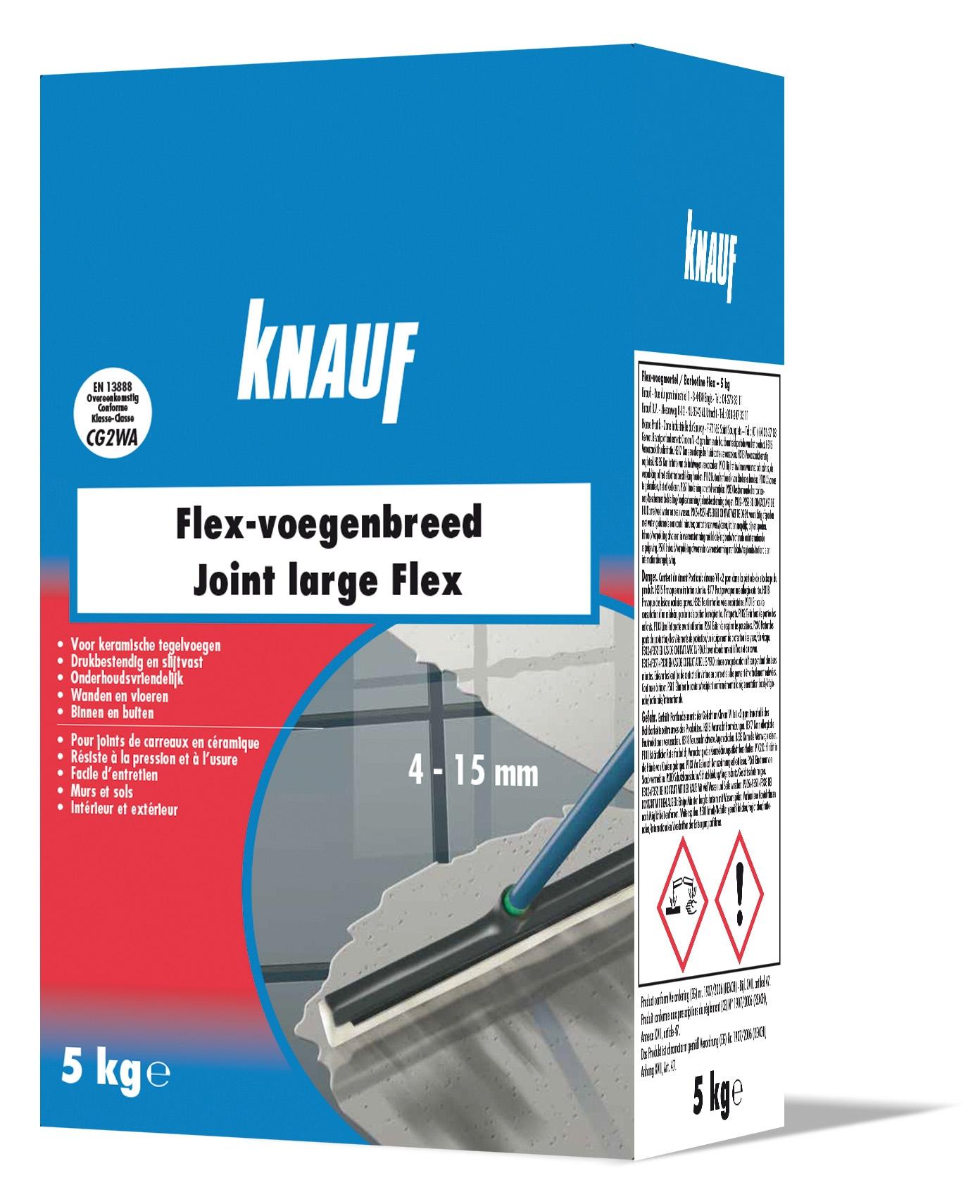 Mortier De Jointoiement Joint Large Flex 5 Kg Knauf