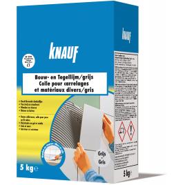 Colle pour carrelages et matériaux divers KNAUF - Gris - 5 Kg