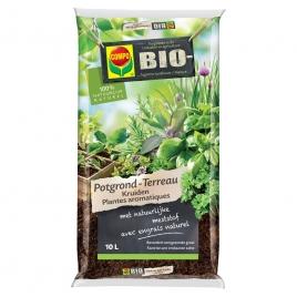 Terreau pour plantes aromatiques Bio 10 L COMPO
