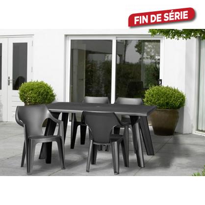 ensemble de jardin dante 1 table et 4 fauteuils allibert - Ensemble De Jardin