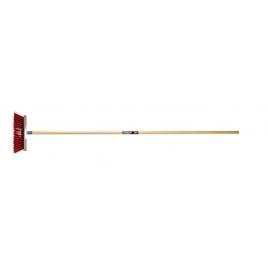 Balai rouge avec fil d'acier POLET