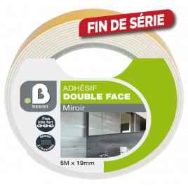 Adhésif Double face miroirs 5 m x 19 mm B RESIST