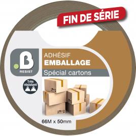 Adhésif d'emballage spécial cartons 50 mm B RESIST