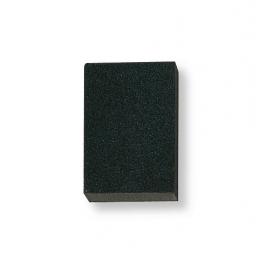 Éponge abrasive 100 x 70 x 25 mm avec banderole - Grain fin/moyen