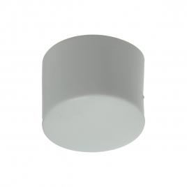 Embout enveloppant blanc pour pied rond en PVC 4 pièces