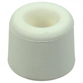 Arrêt de porte à visser en caoutchouc 2 pièces - Blanc - 25 mm