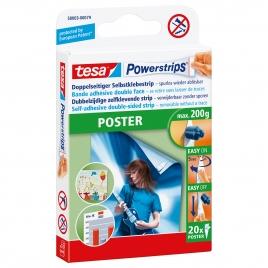 Bande adhésive double face poster Powerstrips TESA