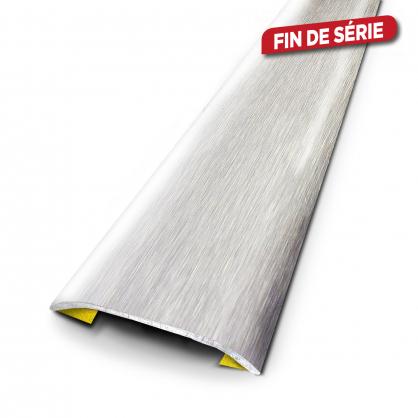 Barre de seuil adhésive en inox brossé 37 x 830 mm