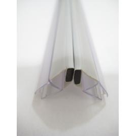 Joint magnétique d'angle pour paroi de douche 2 pièces AURLANE