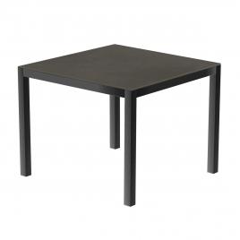 Table de jardin anthracite en céramique Luxury 90 x 90 x 74 cm