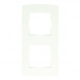 Plaque de recouvrement double blanche PROFILE
