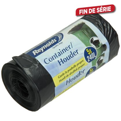 Sac poubelle containeur 240 L 5 pièces REYNOLDS