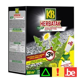 Tube de désherbant pour allées et terrasses Herbatak 6 pièces KB