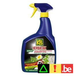 Désherbant pour allées et terrasses Herbatak Spray prêt à l'emploi 1 L KB