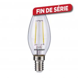 Ampoule flamme E14 retro LED blanc chaud SYLVANIA