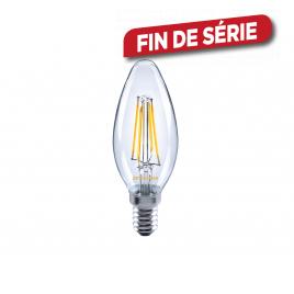 Ampoule flamme E14 rétro 4 filaments LED 4 W Blanc chaud SYLVANIA