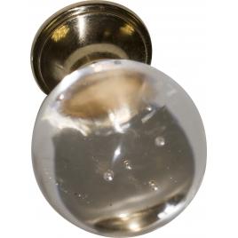 Bouton transparent en verre Ø 30 mm