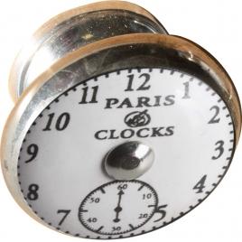 Bouton avec motif de montre Ø 40 mm