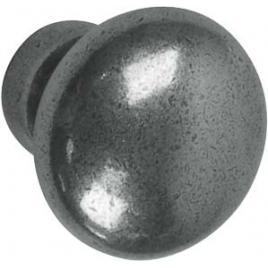 Bouton vieux fer en zamac Ø 25 mm